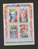 FRANCE / 1990 / Y&T N° 2667/2670 ** En Bloc Ou BF N° 12 ** (Bicentenaire De La Révolution Française) X 1 - Blocs & Feuillets