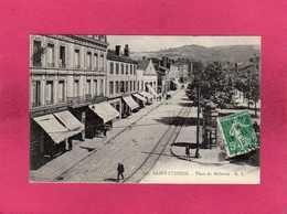 42 Loire, Saint-Etienne, Place De Bellevue, Animée, Commerces, 1915, (C. L.) - Saint Etienne