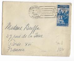 1939 - VATICAN - YT N°71 SEUL SUR LETTRE  => PARIS - Lettres & Documents