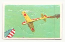 IMAGE AUTOCOLLANT AVION JAPONAIS EN FEU EDITION BOBIER N° 69 - Stickers