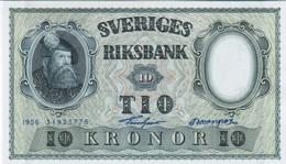 Sweden - Pick 43 - 10 Kronor 1956 - Unc - Svezia