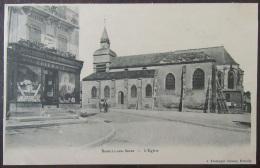 Romilly Sur Seine (Aube) - Carte Postale Précurseur - L'Eglise + Devanture Magasin Thiebaut - Non-Circulée - Romilly-sur-Seine
