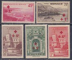 Monaco N° 204 / 08 X Partie De Série : Timbres De La Croix-Rouge, Les 5 Valeurs Trace De Charnière Sinon TB - Monaco