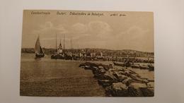 CPA CARTE POSTALE ANCIENNE TURQUIE CONSTANTINOPLE SCUTARI PORT DEBARCADERE DE SALADJAK BATEAU VOILE - Turkey