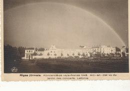 LETTONIE )) JURMALA    Arc En Ciel Vu Du Jardin Des Concerts - Lettonie