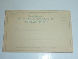 République De Singapour COLORGRAVURE Six View Letter Card Of SINGAPORE Ensemble Des 3 SERIES - Asie (AC) - Singapore