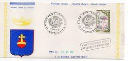 1970--Lettre En 3 Volets  --MONTELIMAR --30ème Foire Exposition--blason -- Cachets - Griffe N' HPAI - Marcophilie (Lettres)