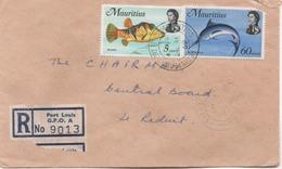ILE MAURICE  RECOMMANDE  BUREAU  PORT LOUIS  GPO.A - Maurice (1968-...)
