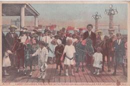 Carte 1920 LUCKY CHILDREN WITH PONIES ON MILLION DOLLAR PIER / ATLANTIC CITY - Atlantic City