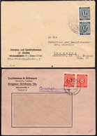 GERMANY 1946/7. 2 X NICE COVERS, ROCHLITZ CHEMNITZ - Zona Soviética