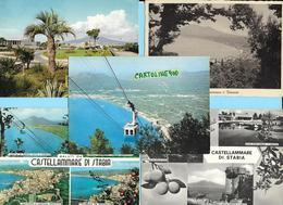 Campania-castellammare Di Stabia Vedute Di Castellammare Di Stabia  (5 Cartoline Di Castellammare Le 2 In Alto Viagg.) - Castellammare Di Stabia