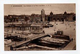 - CPA DUNKERQUE (59) - Les Ecluses Et La Place Du Mink - Edition L. S. D. N° 7 - - Dunkerque