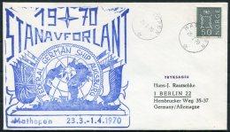1970 Norway Mathopen Stanavforlant NATO German Ship Augsburg Polar Cover - Norway
