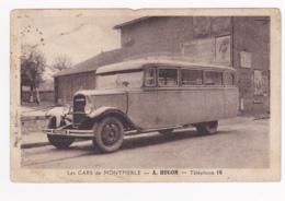 Les Cars De Montmerle 01 ( Autobus Citroën, C6G1, 2ième Génération) - A Hugon - Téléphone 16 - Pas Circulé - Bus & Autocars