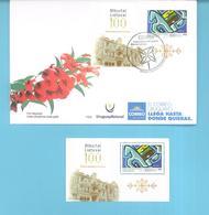 1647 URUGUAY-2018- FDC- 100ª De La Independencia De  Lituania-TT:Caballos,Edificios, Molinillo Infantil - Uruguay