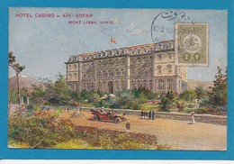Hotel Casino Ain Sofar Mont Liban Lebanon Syria Syrie Timbre Turc CAD 1913 Beyrouth - Libano
