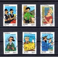FRANCE Yvert  4051/56 Les Voyages De Tintin Avec Oblitérations D'époque Lisibles Et Bien Centrées - Usados