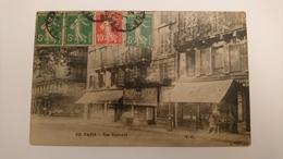 CPA CARTE POSTALE ANCIENNE VIERGE PARIS 103 PARIS 17 RUE GUERSANT NOIR ET BLANC ÉTÉ ANIME COMMERCES CAFÉ - Autres