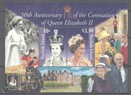 Norfolk Island 2003 Yvert BF 47, 50th Ann. Queen Elizabeth II Coronation - Miniature Sheet - MNH - Norfolk Eiland