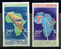Rep. Cameroun  ** ND 434/435 - Conf. Des Techniciens Ferroviaires - Cameroon (1960-...)