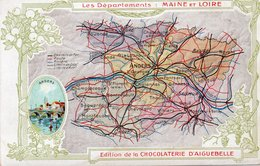 CARTELINA FRANCIA-LES DEPARTEMENT-MAINE ET LOIRE-ANGERS--NON VIAGGIATA - Carte Geografiche