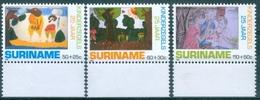 SURINAM  #B368-70    CHILD DRAWING -  3v  - 1988   MNH - Surinam