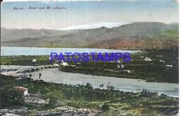 101821 LEBANON LIBANO BEYROUTH RIVER AND MOUNT POSTAL POSTCARD - Libano