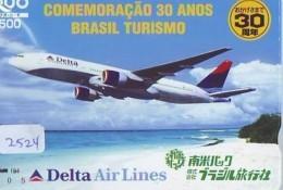 Télécarte  JAPON * DELTA AIRLINES *  (2524)  AVIATION * AIRLINE Phonecard  JAPAN AIRPLANE * FLUGZEUG - Avions