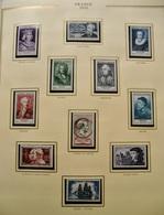 FRANCE COMPLET 1942/1957 TIMBRES NEUFS** SUP.  Dans SOMPTUEUX ALBUM PRESIDENCE  CERES /COTE TRES IMPORTANTE - France