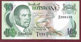 BOTSWANA - BILLETE - 10 PULA  ND(1993) - Botswana