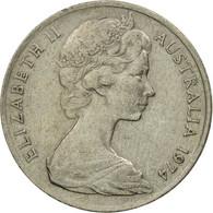 Monnaie, Australie, Elizabeth II, 10 Cents, 1974, TTB, Copper-nickel, KM:65 - Monnaie Décimale (1966-...)