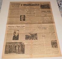 L'humanité Du 21 Septembre 1944.(L'inventeur Du V1-Gestapo Française) - Magazines & Papers