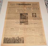 L'Humanité Du 29 Septembre 1944.(Calais-abris Sous-marins à Brest) - Magazines & Papers