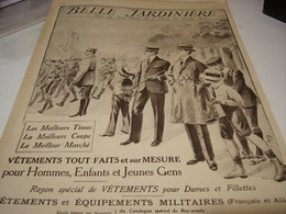 ANCIENNE PUBLICITE MAGASIN BELLE JARDINIERE HIVER 1917 - Habits & Linge D'époque