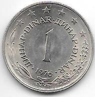 *Yugoslavia 1 Dinar  1976  KM 59   Unc !! - Yugoslavia