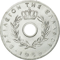 Monnaie, Grèce, 20 Lepta, 1959, TTB+, Aluminium, KM:79 - Grèce