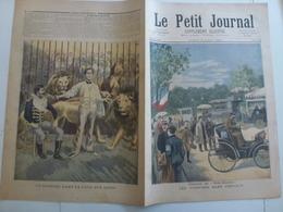 Le Petit Journal 6 Aout 1894 Les Voitures Sans Chevaux Un Barbier Dans La Cage Aux Madrid Espagne - 1850 - 1899