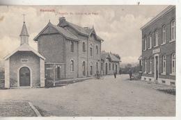 Membach - Chapelle St. Quirin Et La Gare - Animé - Edit. Jos. Schyns, Membach - Baelen