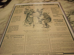 ANCIENNE PUBLICITE MEDICAMENT  URODONAL DANS LES TRANCHEES   1915 - 1914-18