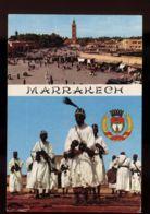 B7362 MOROCCO - MARRAKECH - DANSEURS GNAOUA ET PLACE DJEMAA - Marrakech