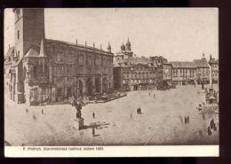 B7387 CZECH REPUBLIC - PRAHA - F. FRIFRICH - STAROMESTSKÁ RADNICE KOLEM 1865 - Repubblica Ceca