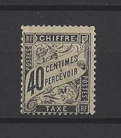 FRANCE. YT  Taxe  19 Neuf *  (trace De Pli)  1881 - Postage Due