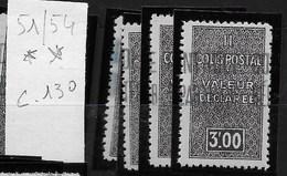 Algérie_Colis Postaux 51 à 54 ** Cote 130 - Algérie (1924-1962)