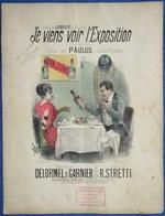 CAF CONC HUMOUR GF PARTITION XIX JE VIENS VOIR L'EXPOSITION 1889 PUB RHUM ST JAMES STRETTI DELORMEL GARNIER ILL FARIA - Music & Instruments