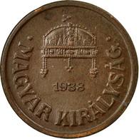 Monnaie, Hongrie, 2 Filler, 1938, Budapest, TTB, Bronze, KM:506 - Hungary