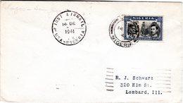 Nigeria 1941, 2/6d On 1st Flight Cover From Lagos To San Juan, Puerto Rico, USA - Nigeria (1961-...)