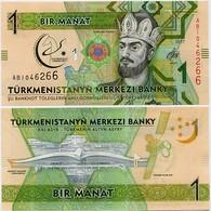 TURKMENISTAN       1 Manat       Comm.       P-36       2017       UNC - Turkmenistan
