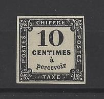 FRANCE. YT  Taxe  2  Neuf *  (sans Gomme) 1859 - Taxes