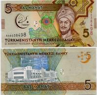 TURKMENISTAN       5 Manat       Comm.       P-37       2017       UNC - Turkmenistan