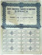 ACTION-FRANCE-Sté INDUSTRIELLE Du CAOUTCHOUC SIFRACA-COUPON 100 Francs-1929 - Industrie